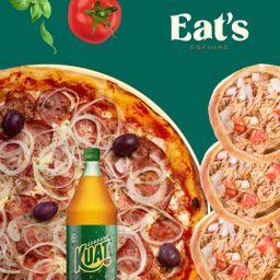 Combo Pizza Calabresa e 6 Esfihas Salgadas