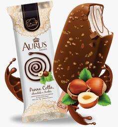 Picolé Aurus Panna Cotta Chocolate e Avelãs