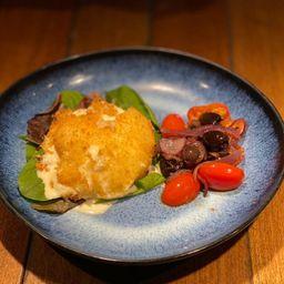 Burrata Crocante com Rúcula