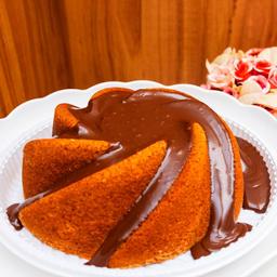 Bolo Amanteigado Cobertura de Chocolate