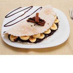 Tapioca Light de Banana com Chocolate