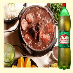 Feijoada mineira 50 % de desconto + guarana 1,5 lt gratis