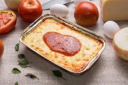 Lasanha à Bolonhesa + Refrigerante 236 ml