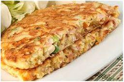 Omelete Peito de Peru e 2 Acompanhamentos