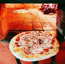 Pizza Frango com Bacon - 8 Fatias