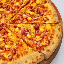 Pizza de Corn e Bacon - Média