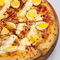 Pizza de Egg E Bacon - Média Pan