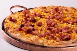 Pizza de Bacon e Milho