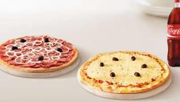 2 pizzas 35cm + Refrigerante de 2 litros