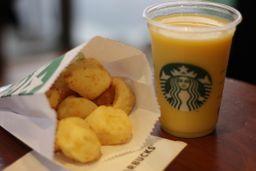 Suco de laranja + Porção Mini Pão de Queijo - 330ml