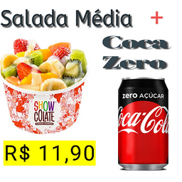 Salada Média + Coca-Cola zero