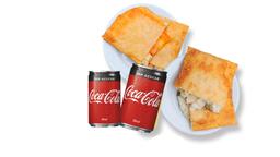 4 Pastéis e 2 Coca-Cola Original