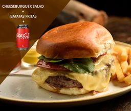 Cheeseburguer Salad+Batata+Coca-Cola