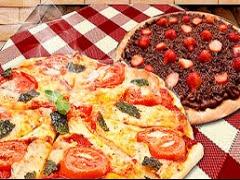 Pizza Grande e Broto Doce