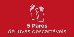 5 Pares de luvas descartáveis