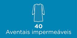 40 Aventais impermeáveis