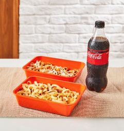 2 massas tradizionales + refrigerante 600ml + 2 sobremesas