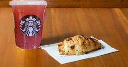 Chá Verde com Limonada e Blueberry com Croissant