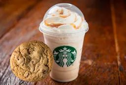 Frappuccino Caramelo com Cookie de Baunilha