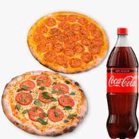 Combo Coca - cola 3 pizzas grandes + coca cola  2 litros