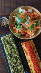 Combo Família Low Carb 2 tortas médias + salada orgânica