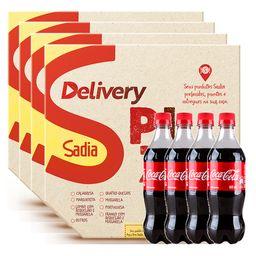 4 Pizzas + 4 Coca-Colas