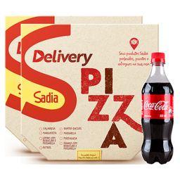 2 Pizzas + Coca-Cola