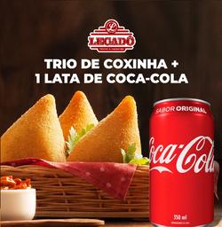 Trio de Coxinha + Coca-Cola Original 350ml