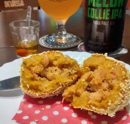 Bolinho - Abóbora com camarão
