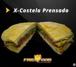 X costela + fritas + coca lata 200 ml
