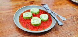 Rondelli verde quatro queijos ao sugo