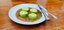 Rondelli verde quatro queijos ao funghi