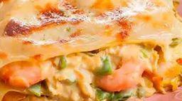 Mega lasanha camarão 750g