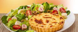 Quiche de Alho Poró + Salada Simples