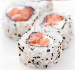 Uramaki salmão e cream cheese