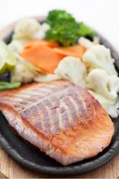 Teppan yaki salmão