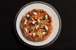 Pizza Peito de peru brocolis e cream cheese