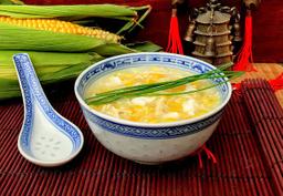 Sopa de milho com ovo