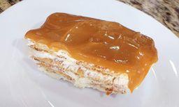 Torta Holandesa com cobertura de Doce de Leite