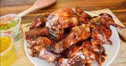1/2 frango na brasa ao molho barbecue