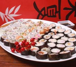 50 peças de sushis