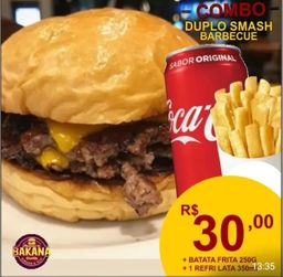 Duplo Smash Barbecue e refri 350ml