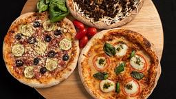 Pizza Tradicional 30cm, Refrigerante e Brotinho Doce
