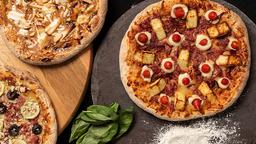 Pizza Especial 35cm, Refrigerante e Brotão Doce