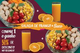 Salada de Frango e Suco de Laranja 300ml