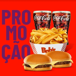 2 Cheeseburger + Batata Canoa Mega + 2 Refri