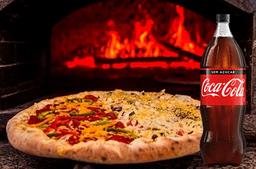 Pizza Grande + Coca-Cola Sem Açúcar 2 L