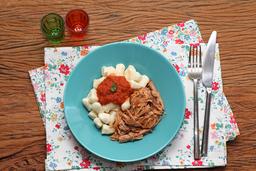 Nhoque de Batata ao Sugo e Pulled Pork