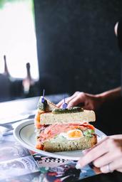Club Sandwich de Salmão