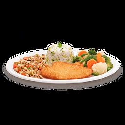 Salada com Steak Vegetariano